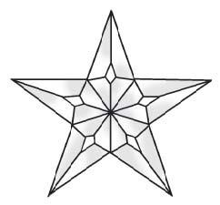 242x225 Stained Glass Supplies 1 5 Piece Large Texas Star Bevel Cluster