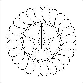 275x275 Texas Star Wreath Quilting Design Digitized Quilting Designs