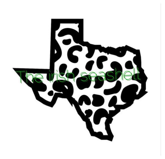 570x552 Texas Cheetah Leopard Jaguar Print Svg Dxf File Texas Svg