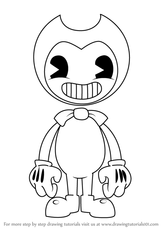 567x800 Learn How To Draw Bendy From Bendy The Ink Machine (Bendy