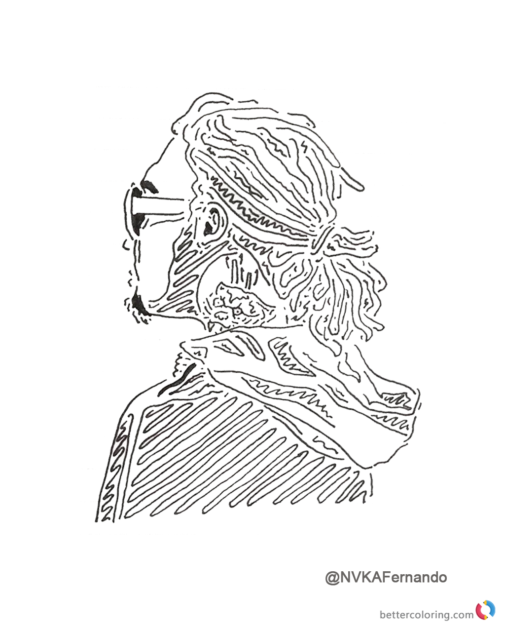 1024x1280 Lil Pump Coloring Pages Fan Drawing