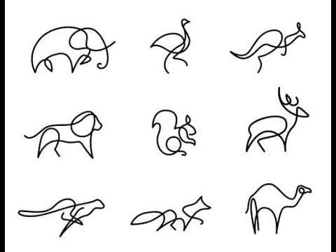 480x360 One Line Animal Painting Creative Ideas Dyi