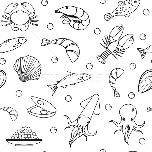 598x600 Sea Life Seamless Pattern. Underwater Endless Background, Texture
