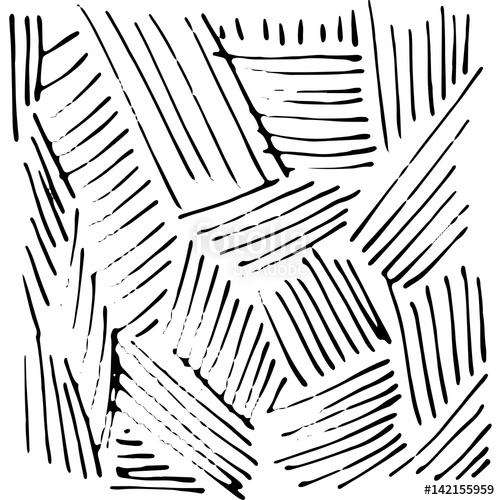 500x500 Vector Hand Drawn Ink Texture With Stripe And Lines. Stock Image