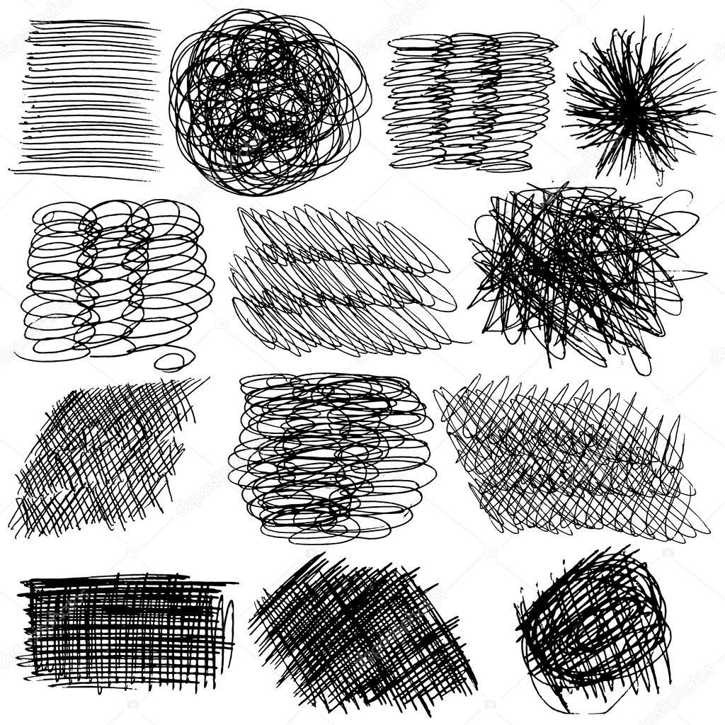 1024x1024 Hand Drawn Textures Stock Vector Goldenshrimp