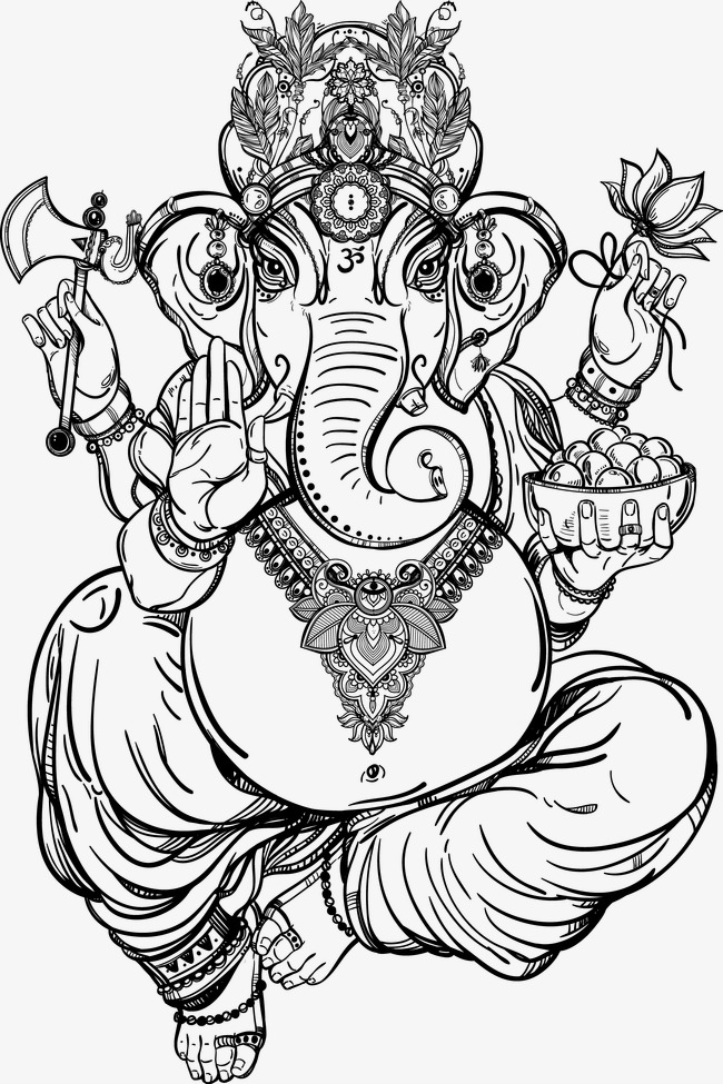 650x975 Hand Painted Thai Elephant God, Hand Painted, Vector, Thailand Png