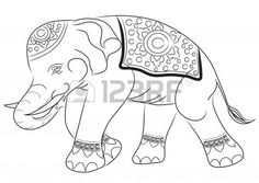 236x167 Hand Drawn Sketch Of Asian Elephant Illustration Done In Black Ink