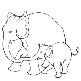 268x268 Cartoon Elephant Coloring Pages Az Coloring Pages Thai Elephant