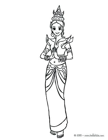 364x470 New Thailand Coloring Pages Image Princess Flag