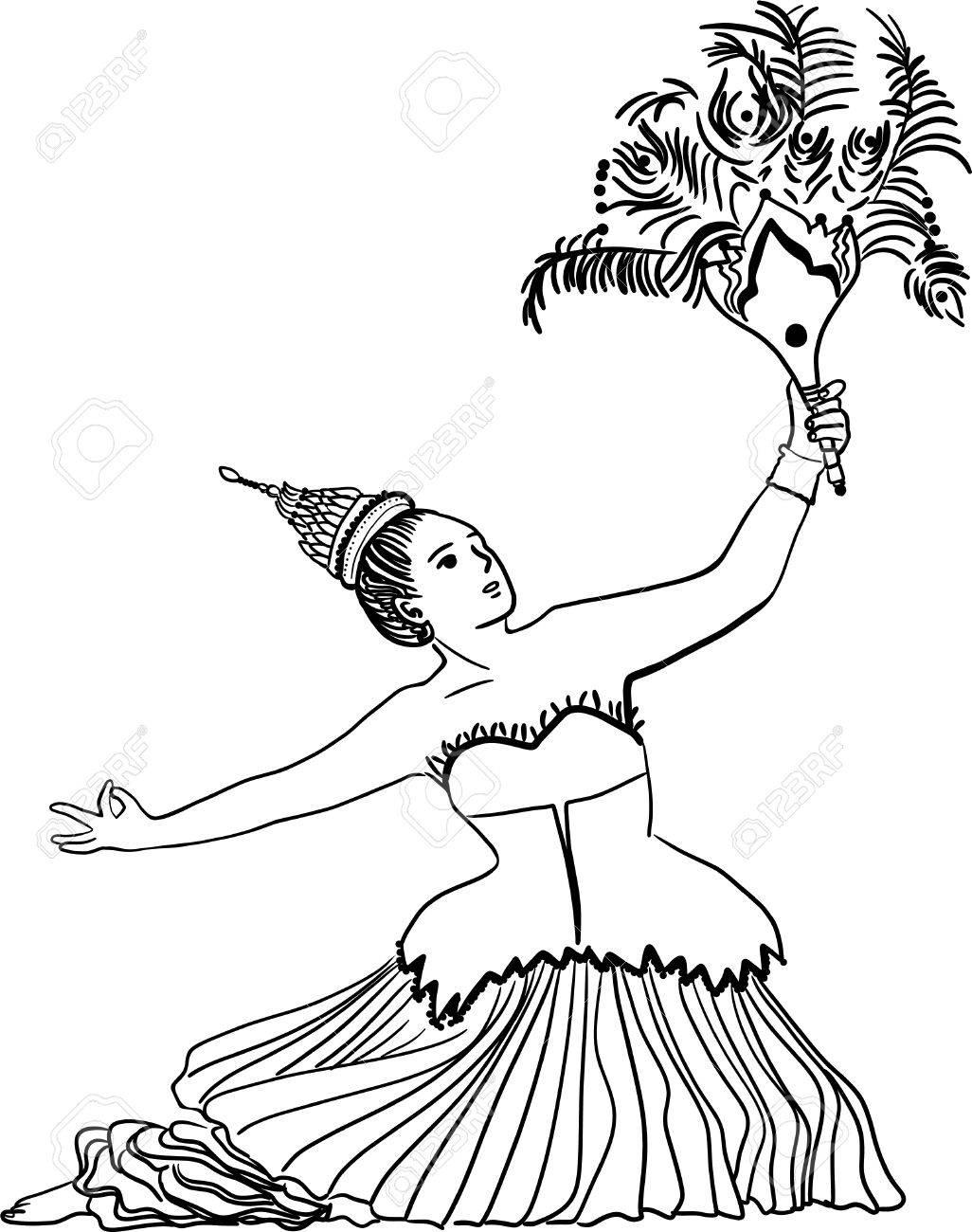 1026x1300 Art Drawing Of Thailand Dancing Art, Thai Classical Dance,(Ram