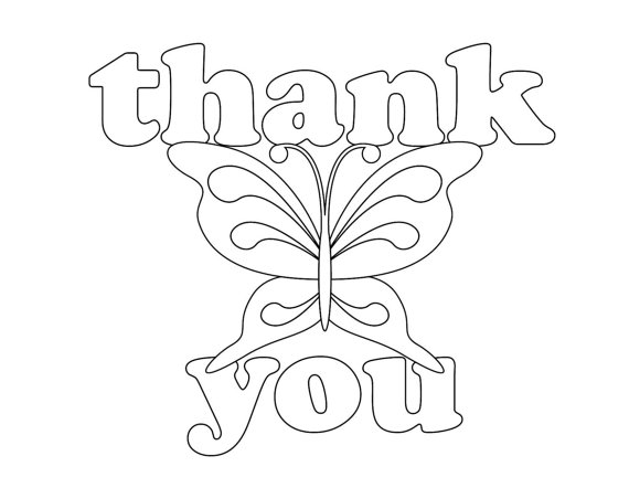 570x442 Thank You Cards Coloring Pages