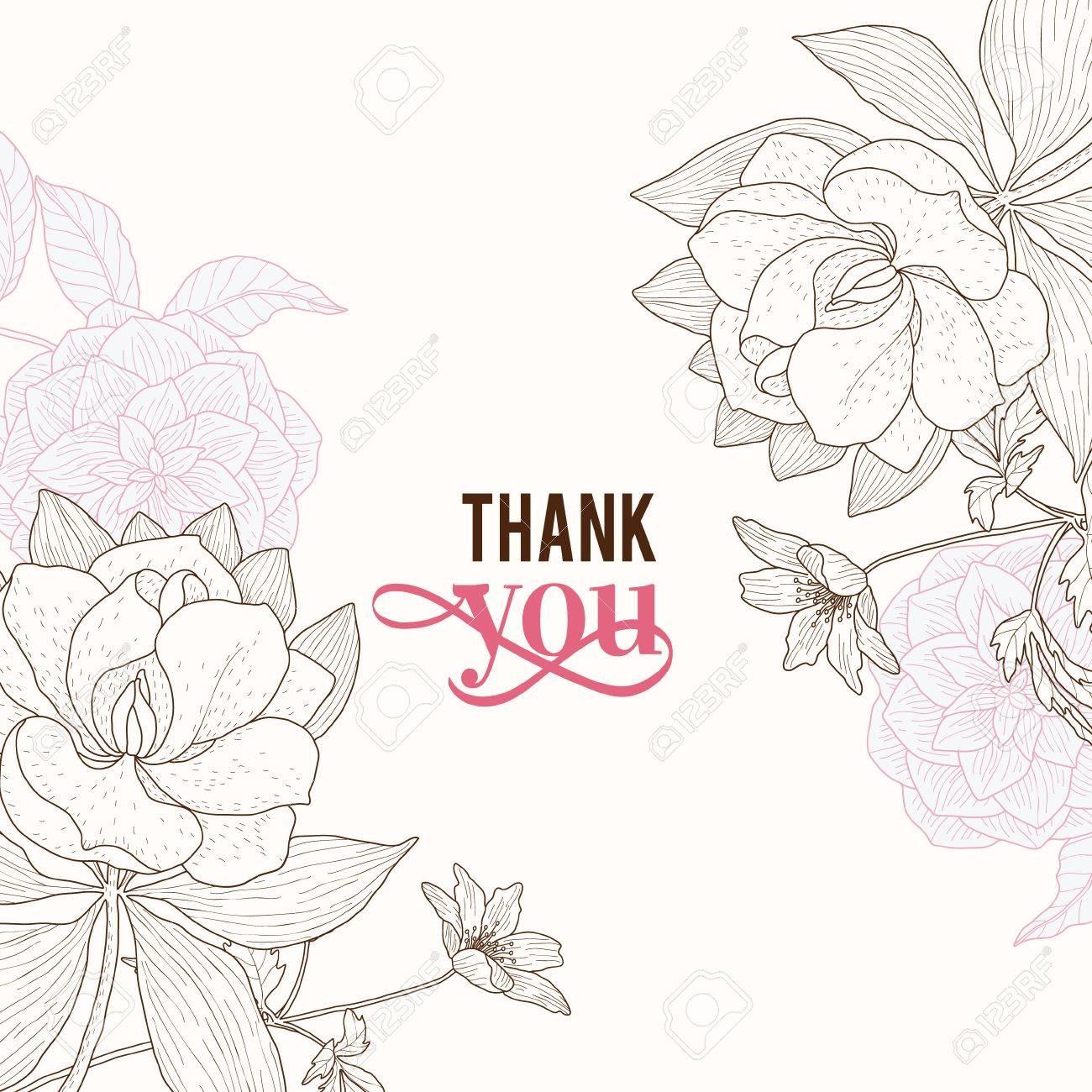 1300x1300 Vector Vintage Pink Brown Frame Floral Drawing Wedding Invitation