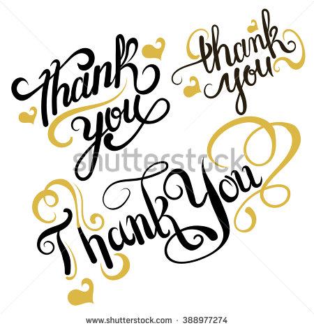 450x470 Stock Vector Thank You Thank You Card Thank You Set Thank You