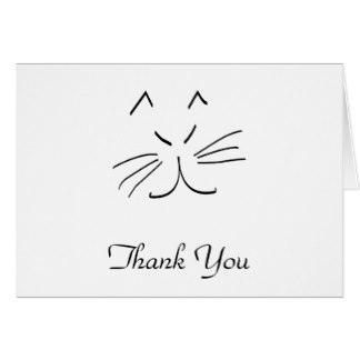 324x324 Cat Thank You Note Cards Zazzle.co.uk