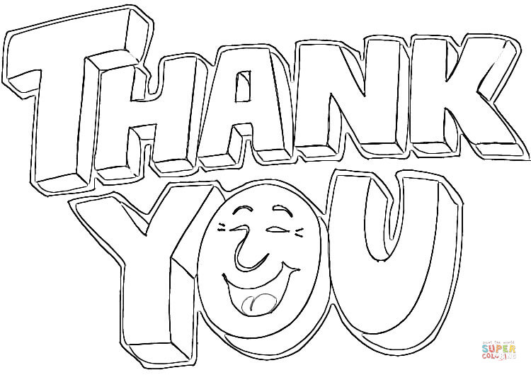 750x529 Thank You Coloring Pages