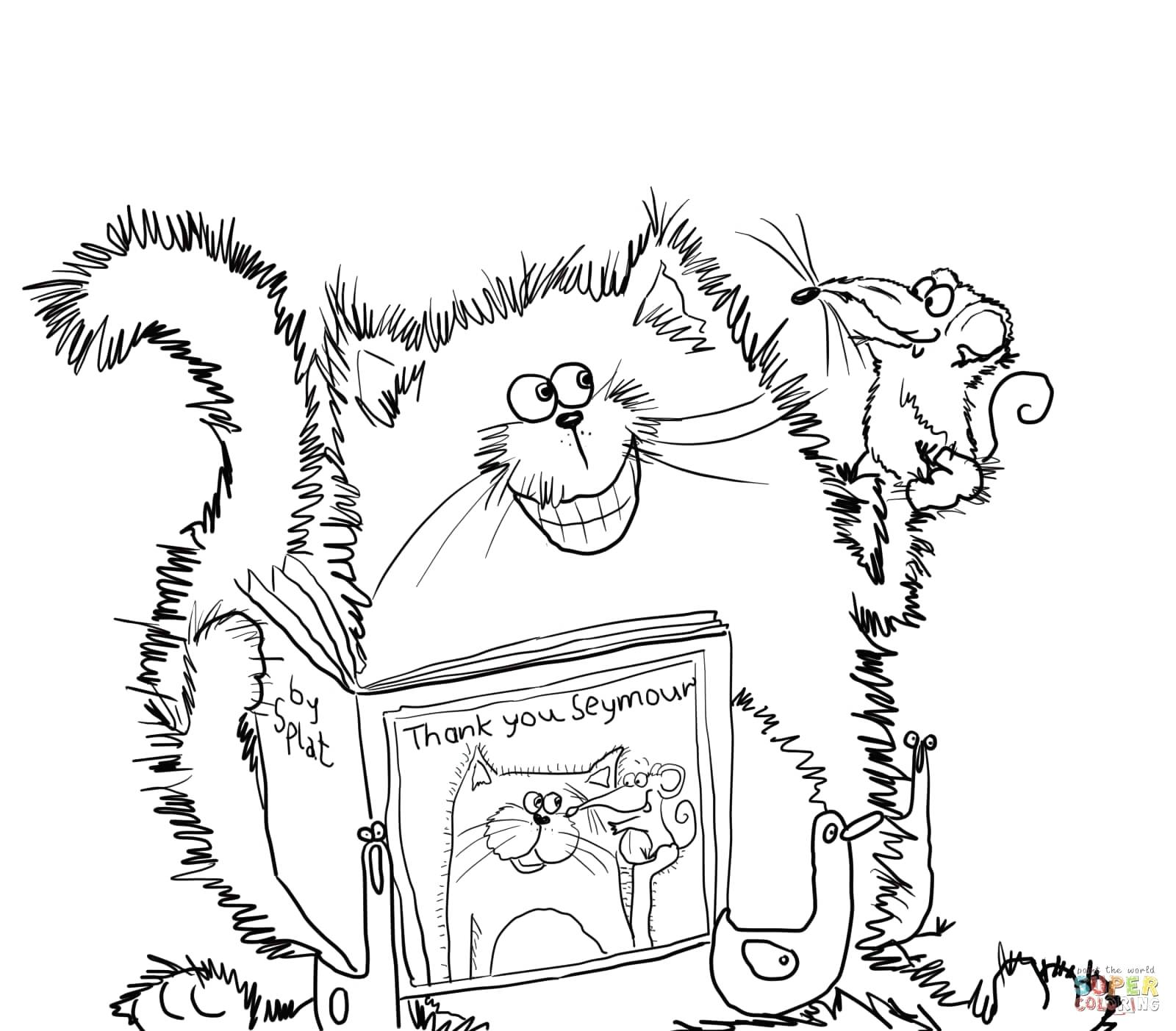 1600x1403 Thank You Coloring Pages Splat The Cat Says Page Free Printable