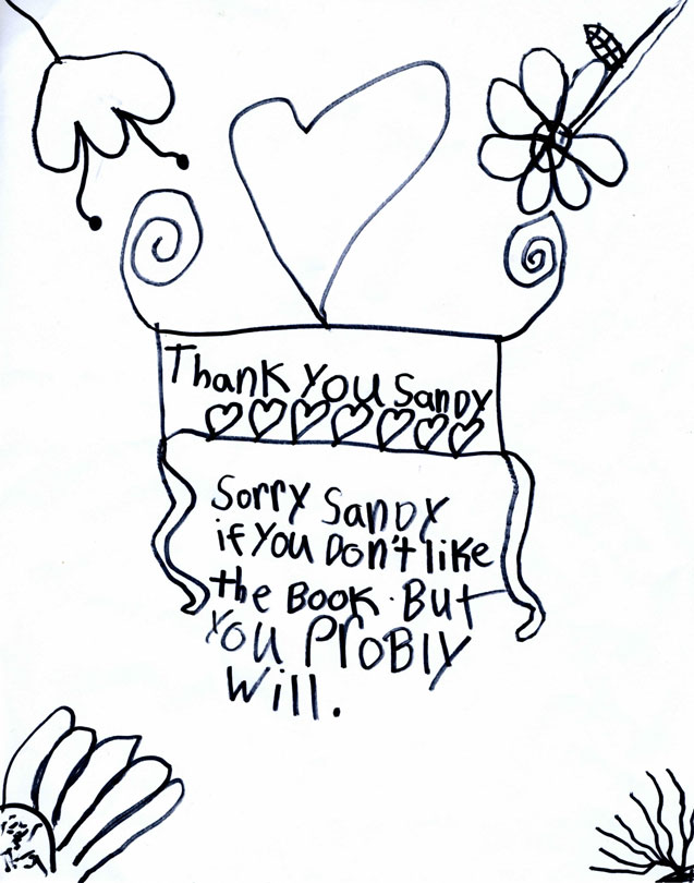 637x810 A Child's Thank You Drawings Garden Plots