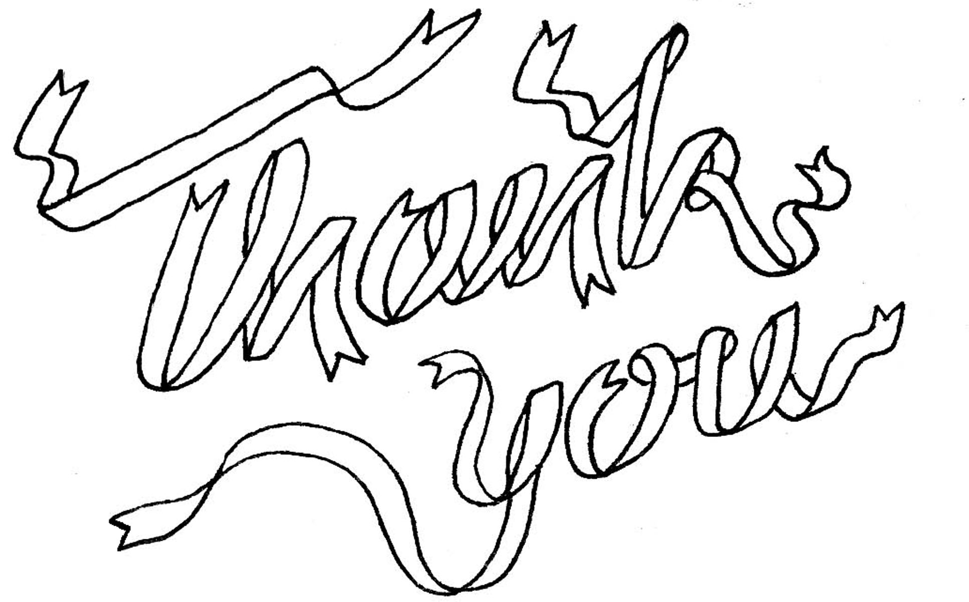 thank you drawing at getdrawings com free for personal use thank