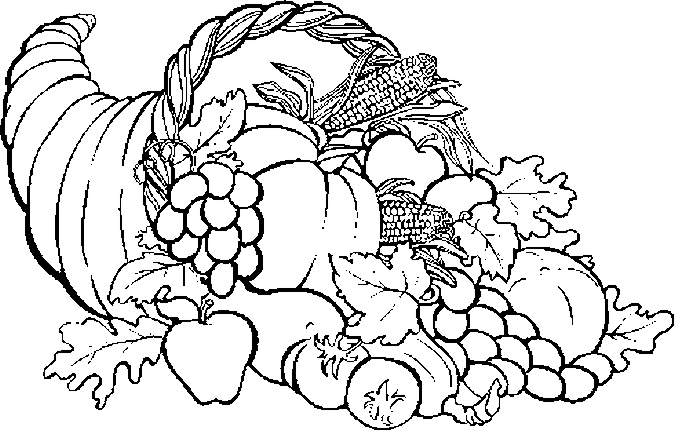 675x431 Coloring Pages Of Cornucopia Thanksgiving Free Thanksgiving