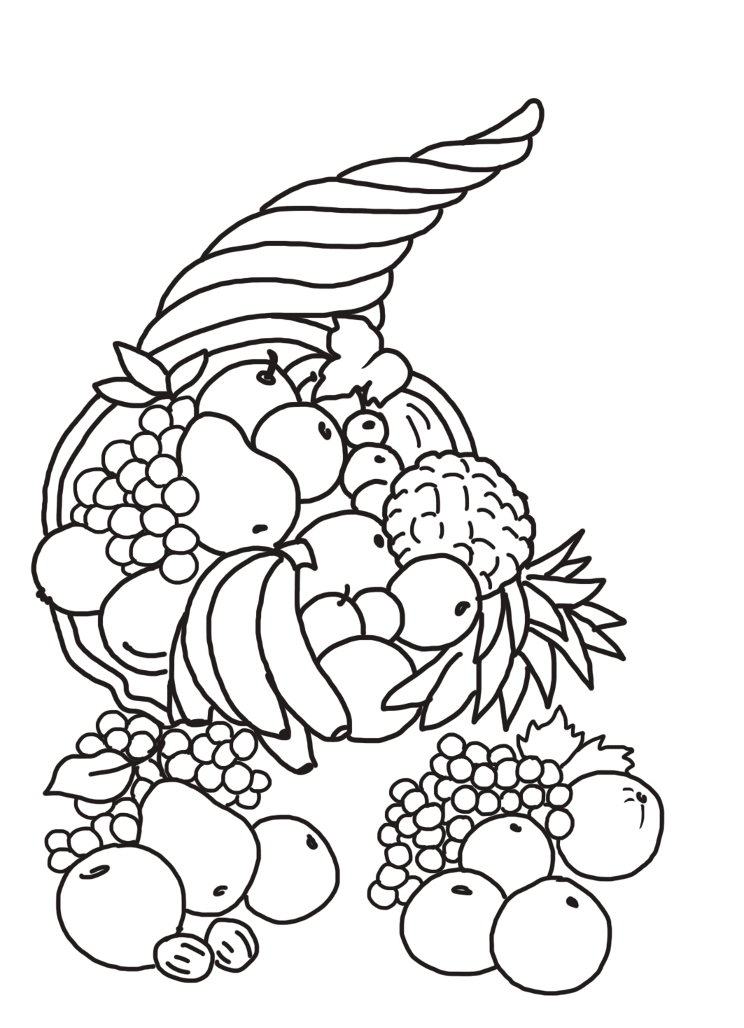 Thanksgiving Cornucopia Drawing at GetDrawings.com | Free for ...