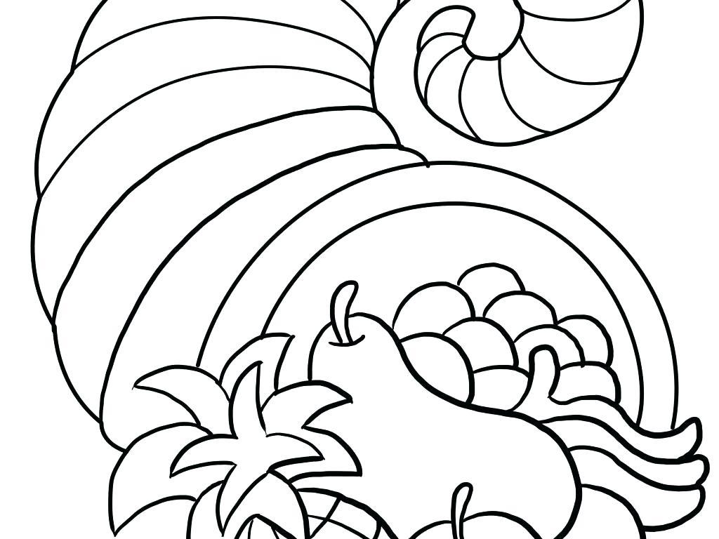 Thanksgiving Cornucopia Drawing at GetDrawings   Free download