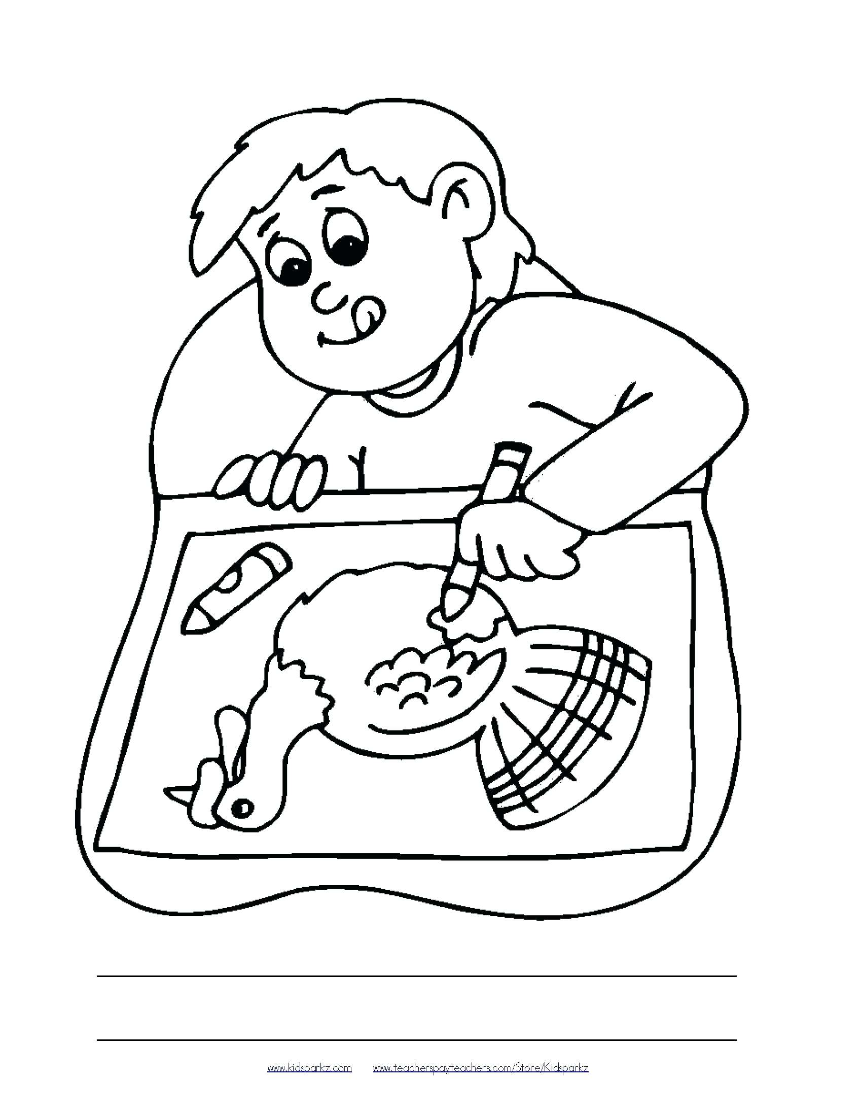 1700x2200 Coloring Thanksgiving Dinner Coloring Pages Themed Oral Language