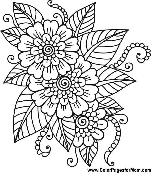 640x732 Coloring Pages Draw Easy Flowers Coloring Pages Thanksgiving