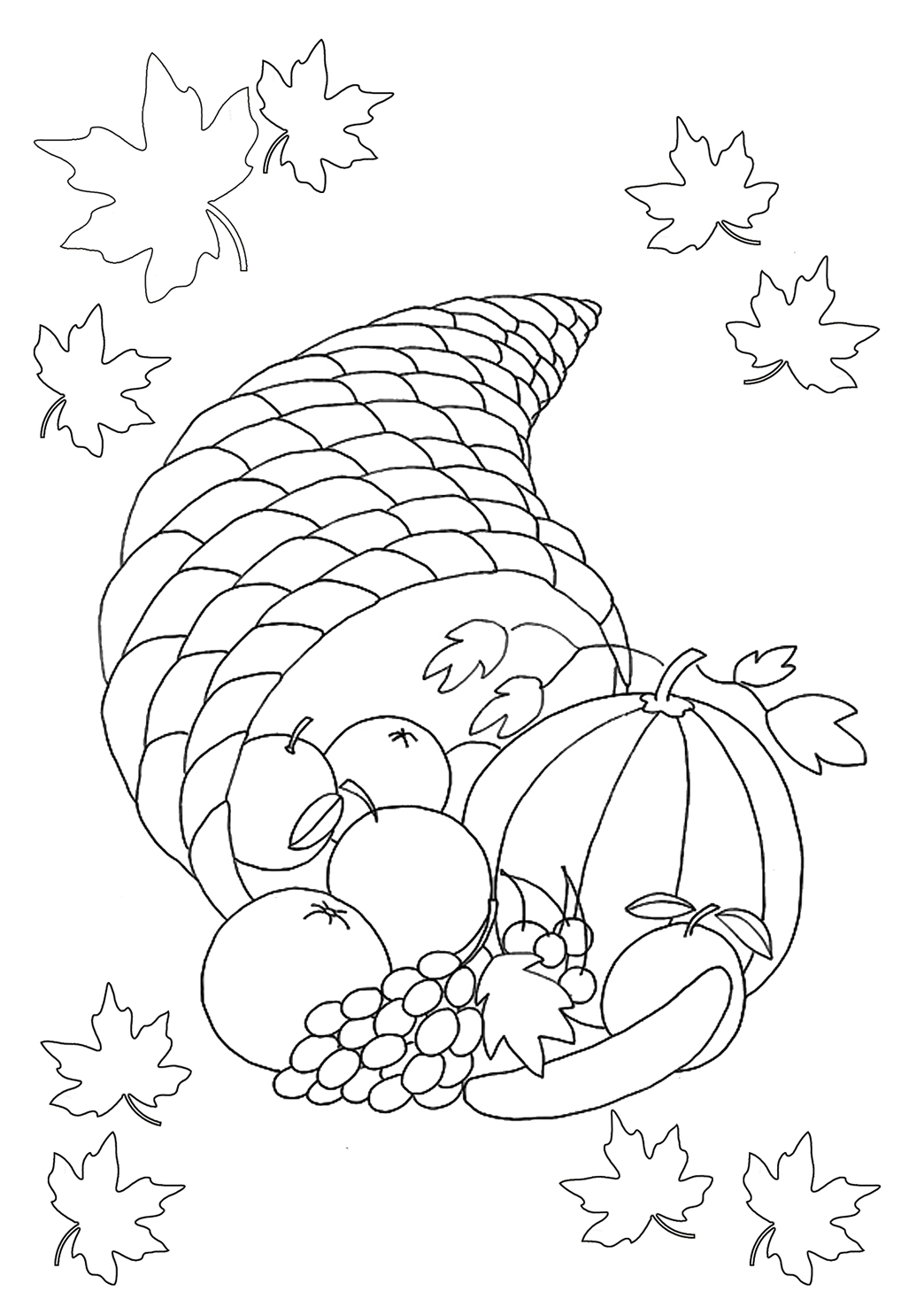 1044x1476 Thanksgiving Coloring Pages