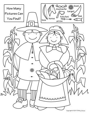 346x448 Thanksgiving Activity Coloring Pages Hidden Pictures, Picture