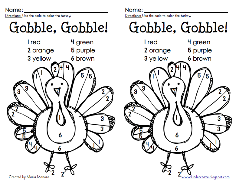 790x610 Thanksgiving Color By Number Turkey Freebie Turkey Colors