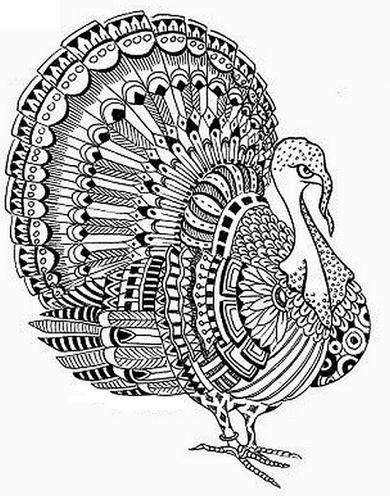 550x700 Thanksgiving Coloring Pages Hard Free Printable Difficult Grown Up