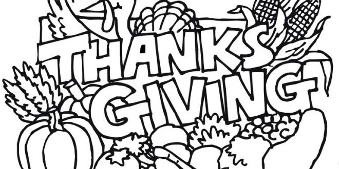 660x330 Thanksgiving Coloring Pages Drawing Thanksgiving Blessings