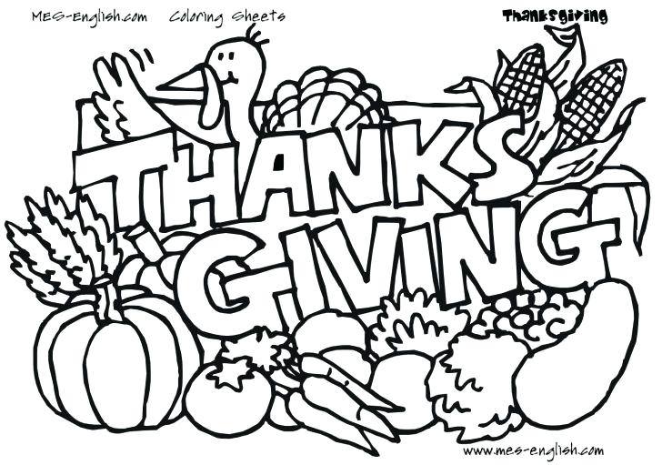 728x511 Thanksgiving Day Coloring Pages Hundreds For Kids Line Drawings
