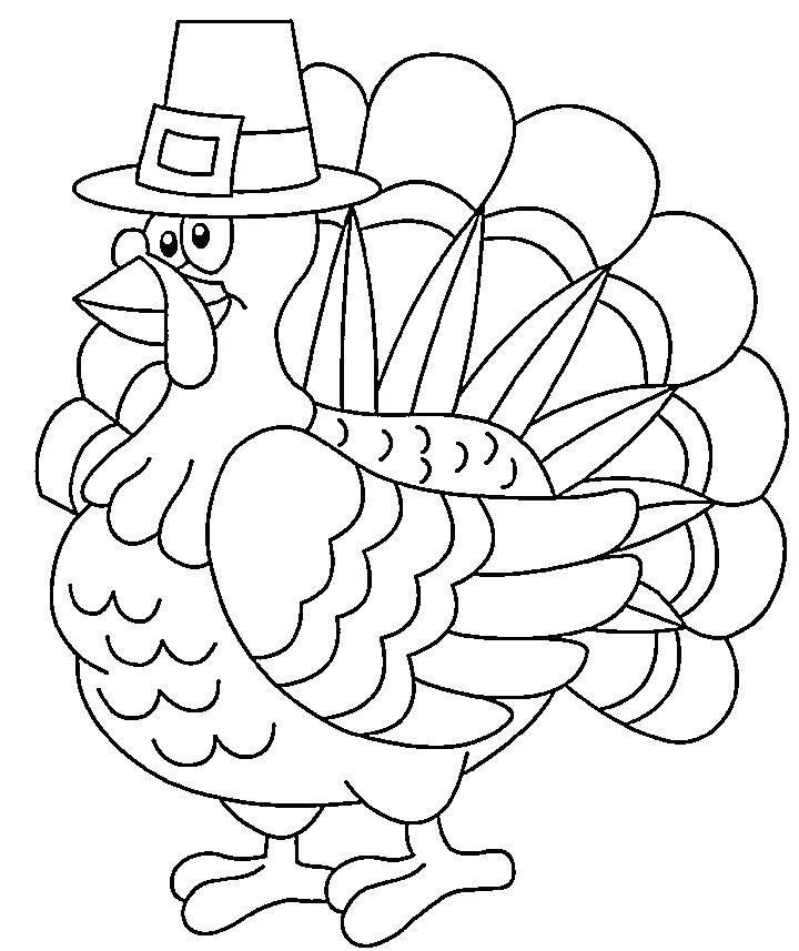 720x857 Coloring Pages Thanksgiving Turkey Kids Drawing Cooked Day Best