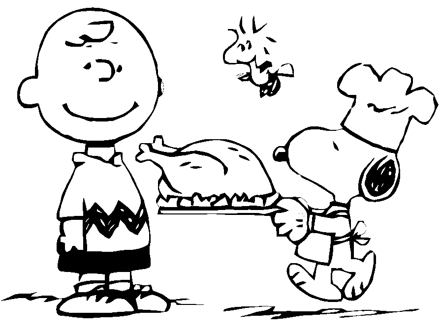 896x673 Thanksgiving Charlie Brown Coloring Page Amp Coloring Book