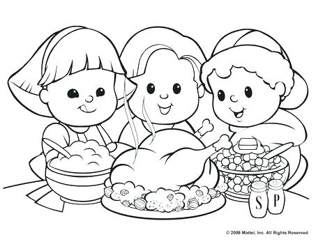 453x350 Thanksgiving Feast Coloring Pages Coloring Page Com For Animal