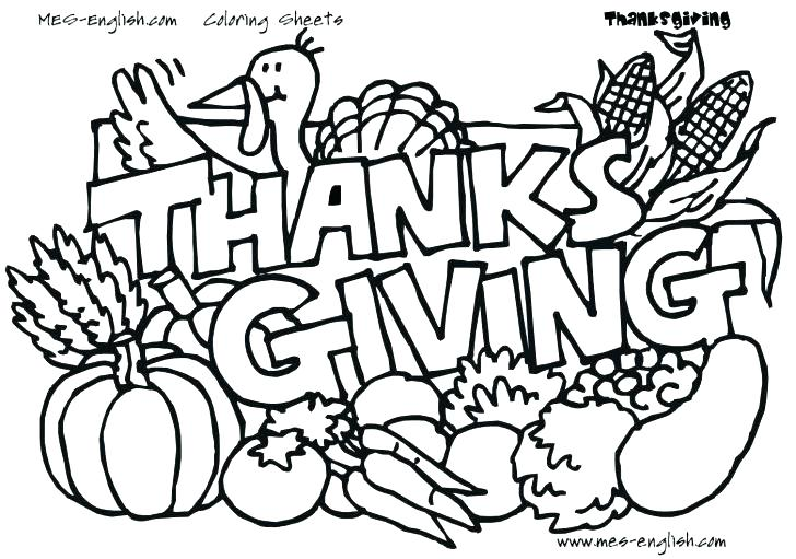 728x511 Thanksgiving Feast Coloring Pages