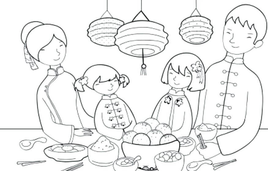 876x561 First Thanksgiving Feast Coloring Pages New Year Of Best