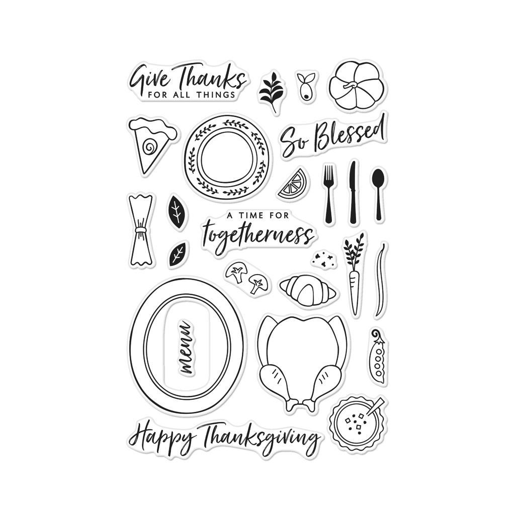 1024x1024 Hero Arts Clear Stamps, Thanksgiving Table