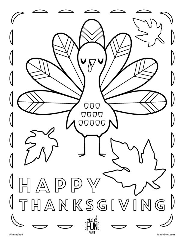 612x792 Kids Thanksgiving Themed Free Printable Coloring Page Free