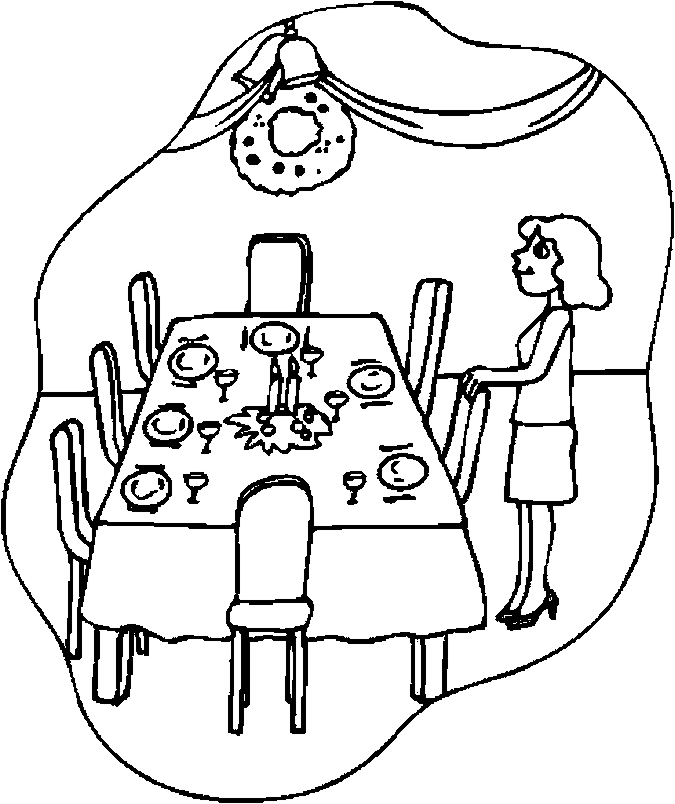 675x804 Thanksgiving Table With Food Coloring Page Thanksgiving Turkey