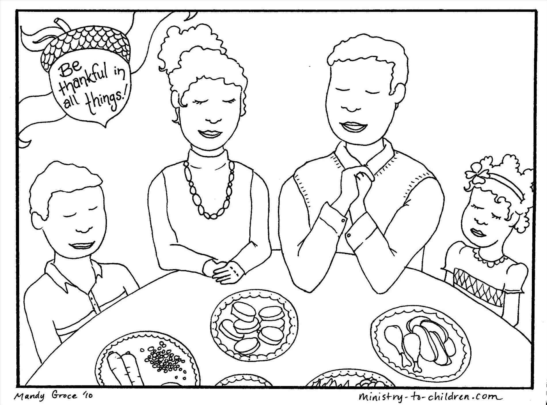 1900x1406 Thanksgiving Dinner Table Drawing