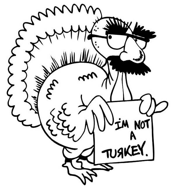 600x646 Hilarious Canada Thanksgiving Day Turkey Make Jokes Coloring Page