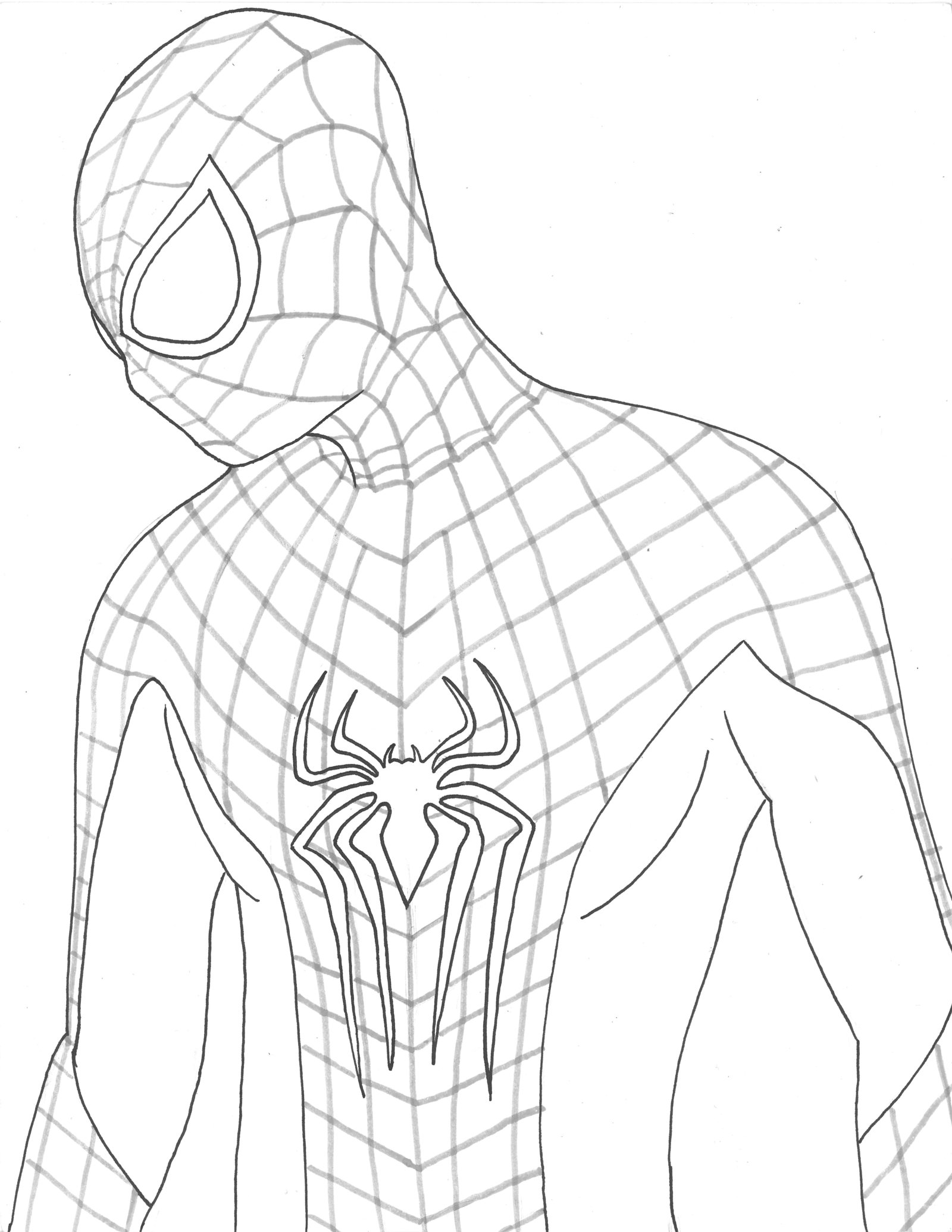 The amazing spider man drawing at free for The amazing spider man 2 coloring pages