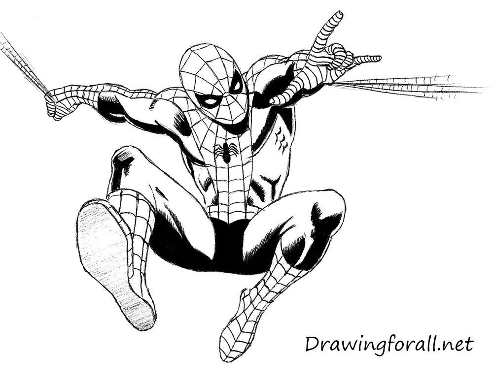 1000x774 How To Draw The Amazing Spider Man Drawing Amazing