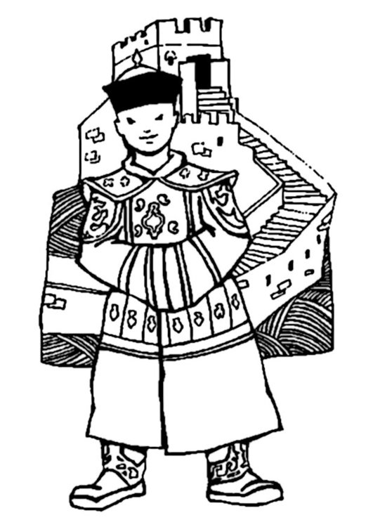 531x750 Coloring Page Great Wall Of China