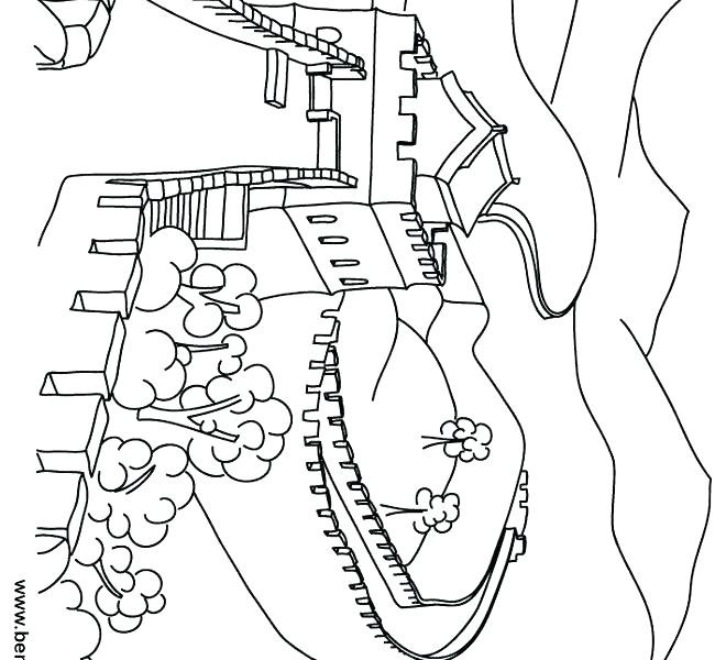 650x600 Great Wall Of China Coloring Page
