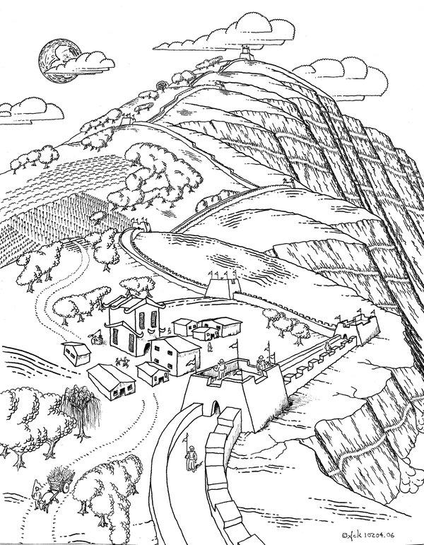 600x771 Great Wall Of China By Thegreatack