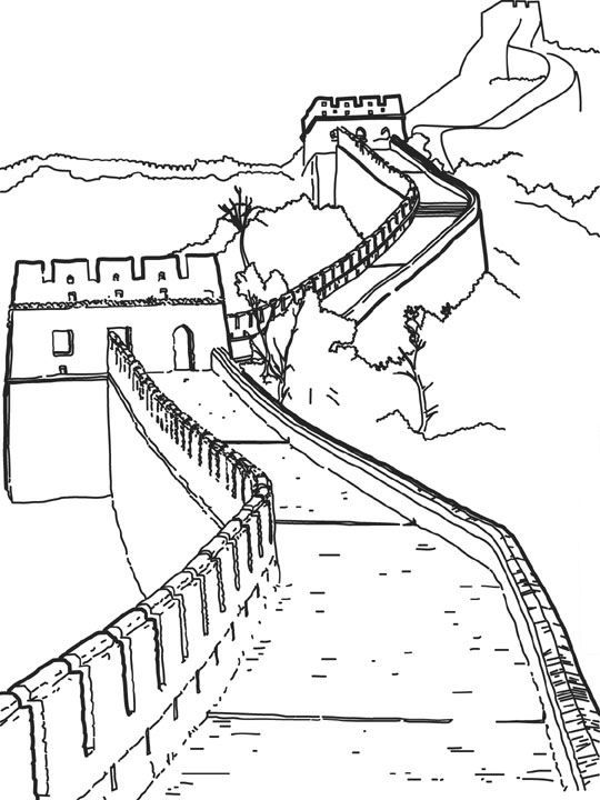 540x720 Coloring Page World Wonders