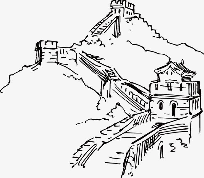 650x567 China Great Wall Painted Artwork, Hand Painted, China, Great Wall